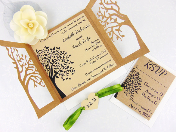 Rustic Wedding Invitation Templates Fresh 28 Rustic Wedding Invitation Design Templates Psd Ai