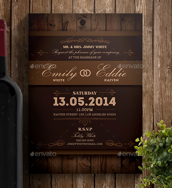 Rustic Wedding Invitation Templates Inspirational 28 Rustic Wedding Invitation Design Templates Psd Ai