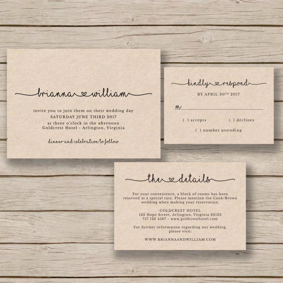 Rustic Wedding Invitation Templates Inspirational Wedding Invitation Template Rustic Wedding Printable
