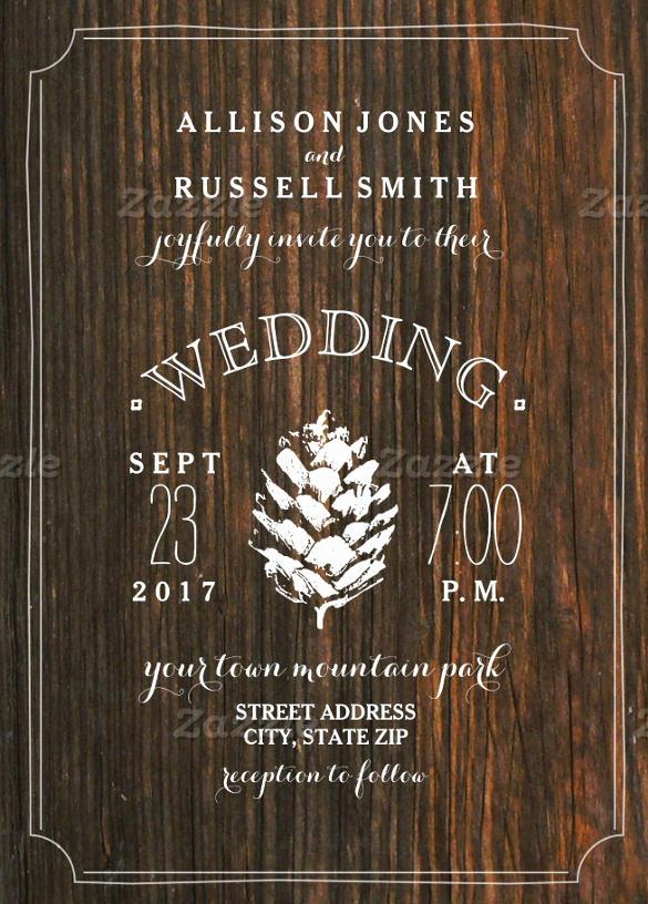 Rustic Wedding Invitation Templates Luxury 28 Wedding Invitation Wording Templates – Free Sample