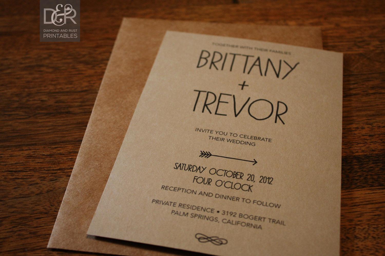 Rustic Wedding Invitation Templates Luxury Rustic Woodsy Printable Wedding Invitation Suite by
