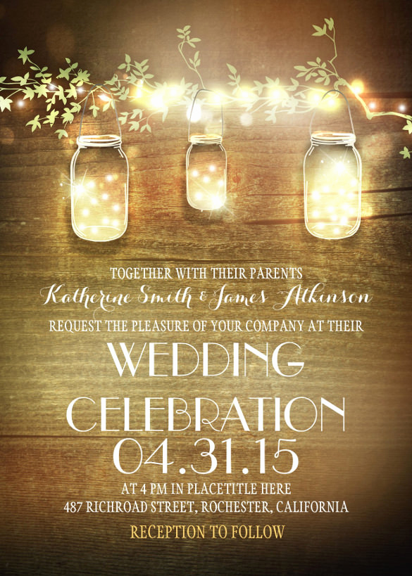 Rustic Wedding Invitation Templates New 28 Rustic Wedding Invitation Design Templates Psd Ai