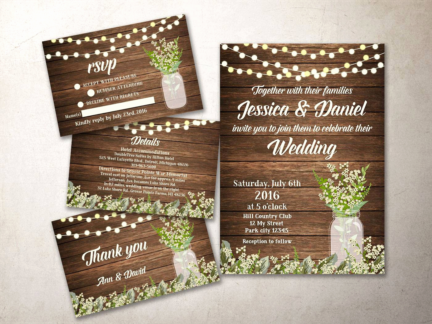 Rustic Wedding Invitation Templates New Rustic Wedding Invitation Kit Printable Barn Wedding