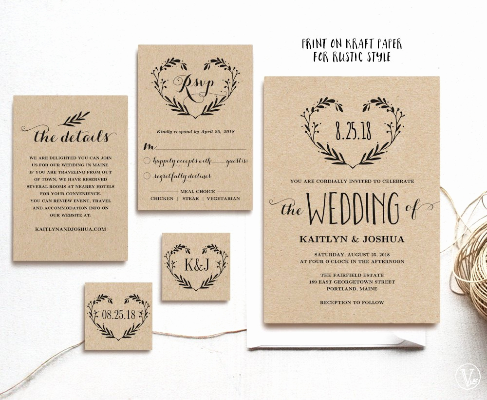 Rustic Wedding Invites Templates Awesome Rustic Vintage Wedding Invitation Ideas