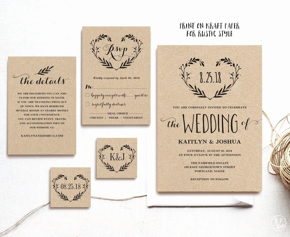 Rustic Wedding Invites Templates Awesome Rustic Vintage Wedding Invitation Ideas