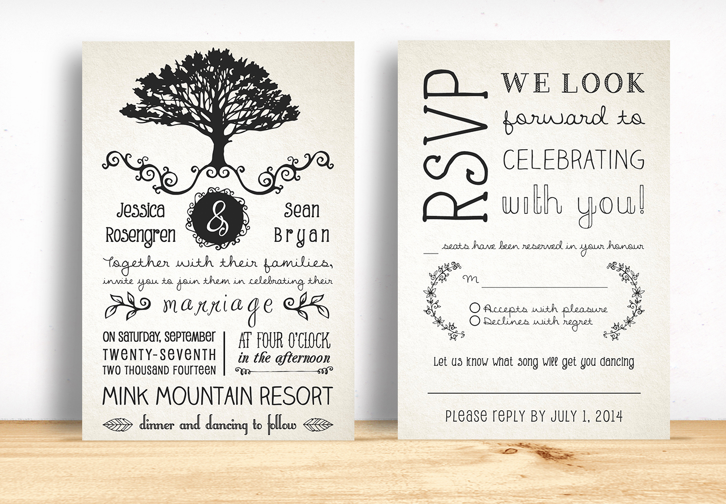 Rustic Wedding Invites Templates Awesome Rustic Wedding Invitation Pack Invitation Templates On