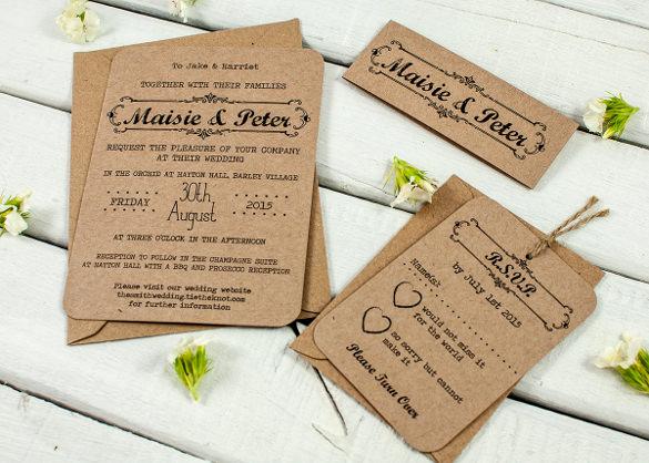 Rustic Wedding Invites Templates Elegant 28 Rustic Wedding Invitation Design Templates Psd Ai