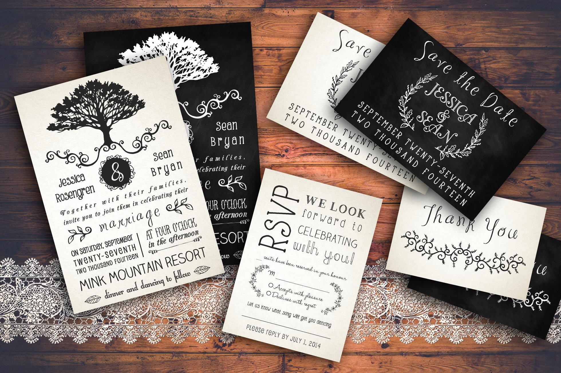 Rustic Wedding Invites Templates Fresh Rustic Wedding Invitation Pack Wedding Templates