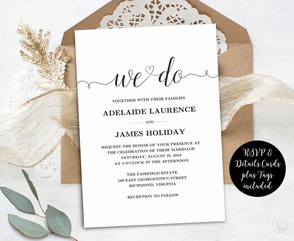 Rustic Wedding Invites Templates Fresh Wedding Invitation Template Rustic Wedding Invitations Kraft