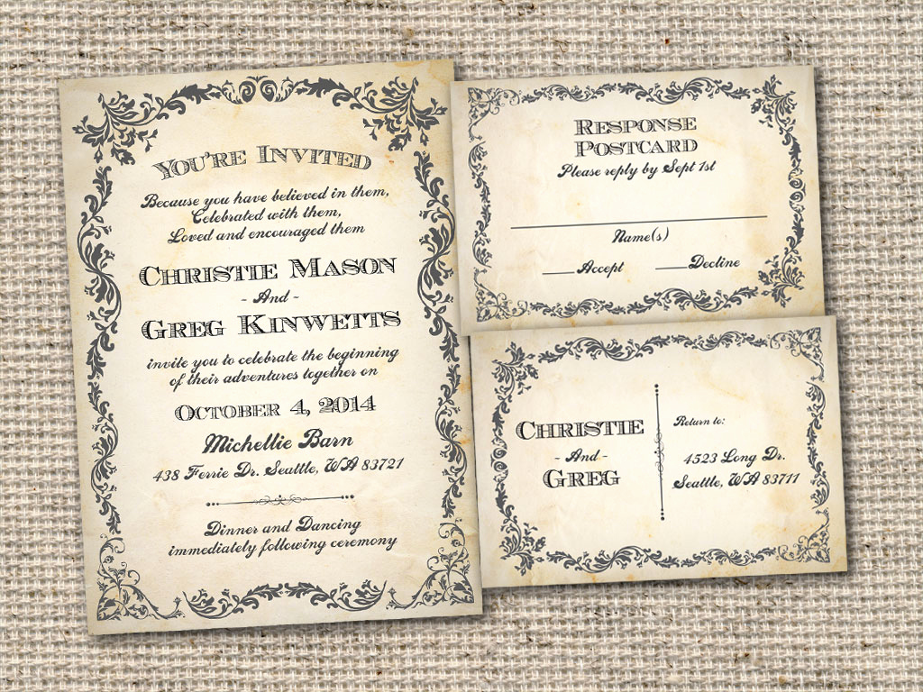 Rustic Wedding Invites Templates Lovely Vintage Bells and Co