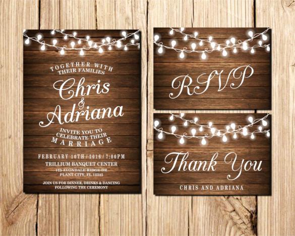 Rustic Wedding Invites Templates New 37 Traditional Wedding Invitation Templates – Psd Ai