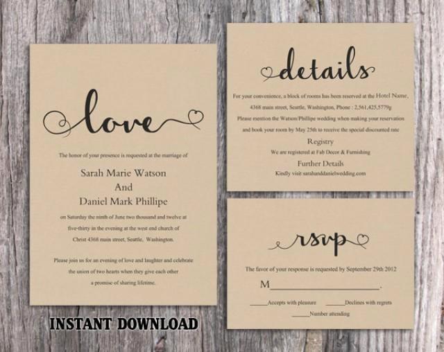 Rustic Wedding Invites Templates New Diy Burlap Wedding Invitation Template Set Editable Word