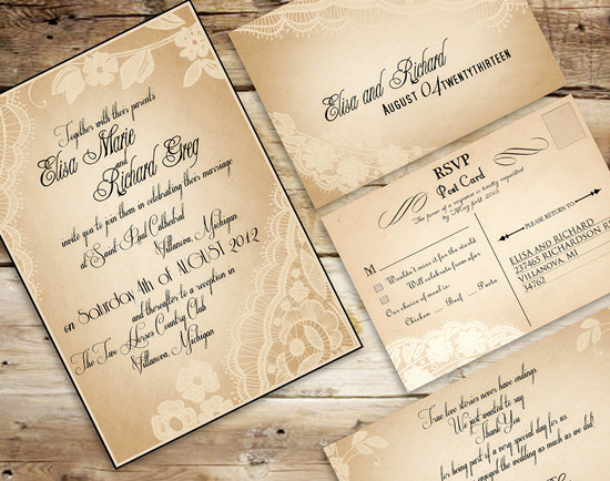 Rustic Wedding Invites Templates Unique Vintage Wedding Invitations Set the tone for A Timeless