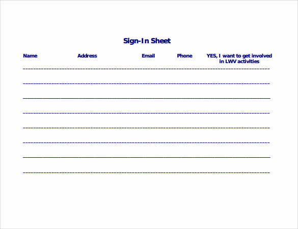 Safety Meeting Sign In Sheet Beautiful 34 Sample Sign In Sheet Templates Pdf Word Apple Pages