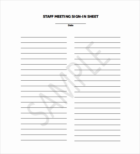 Safety Meeting Sign In Sheet Best Of 18 Sign In Sheet Templates – Free Sample Example format