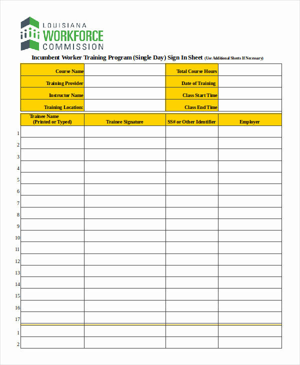 Safety Meeting Sign In Sheet Best Of Sign In Sheet Template 12 Free Wrd Excel Pdf