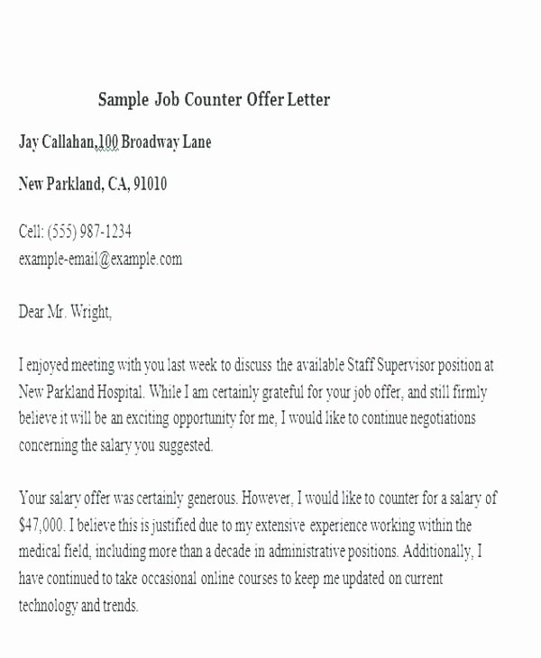 Salary Counter Offer Letter Awesome 15 Salary Negotiation Letter Samples