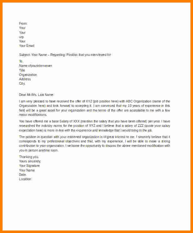 Salary Counter Offer Letter Inspirational 5 Counter Offer Letter Samples