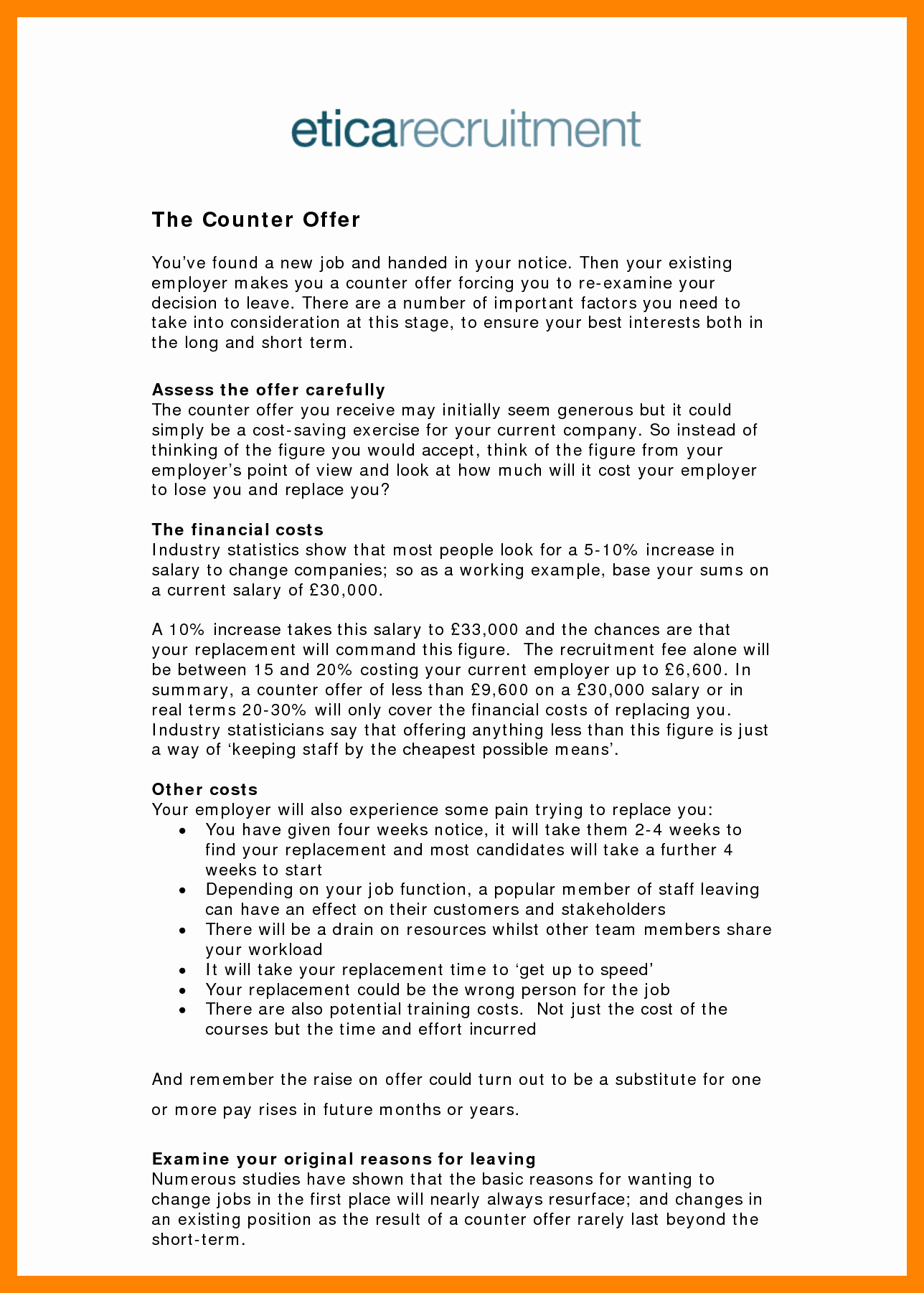 Salary Counter Offer Letter Inspirational 6 Example Of Counter Offer Letter Salary