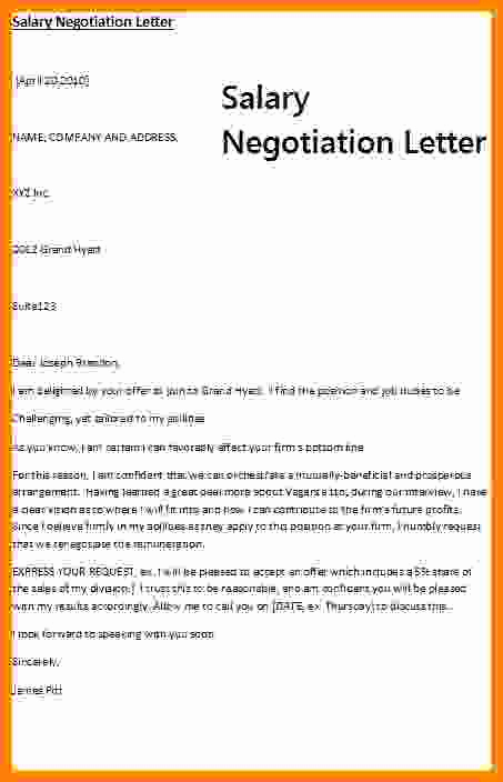 Salary Counter Offer Letter New 5 Example Of Counter Offer Letter Salary