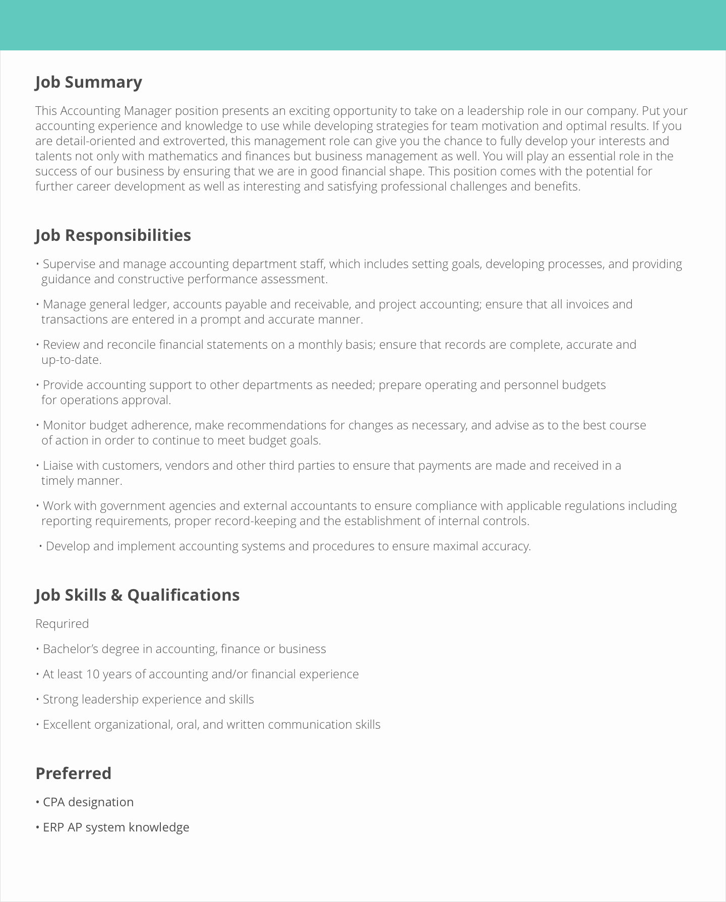 Sales and Marketing Job Description Awesome Job Description Samples & Examples