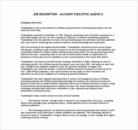 Sales and Marketing Job Description Awesome Sales Marketing Executive Job Description