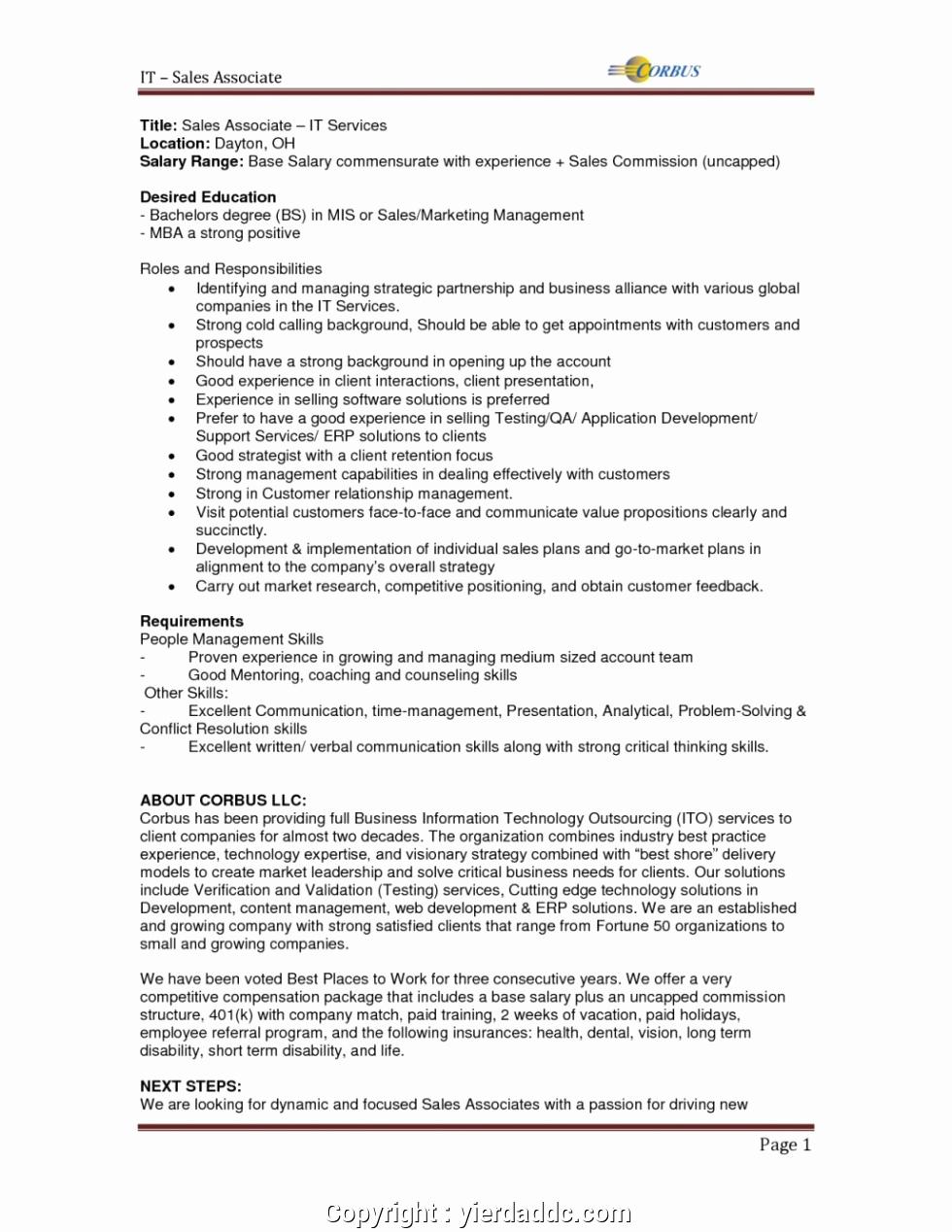 Sales and Marketing Job Description Beautiful Professional Sales and Marketing Job Description for
