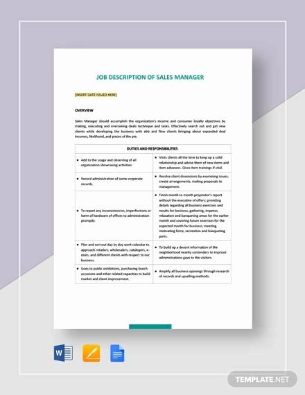 sales and marketing job description
