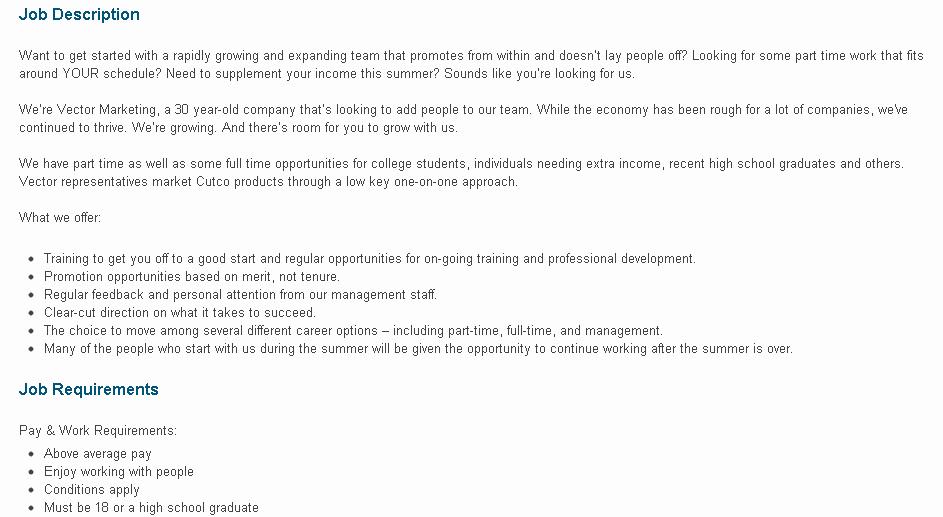 Sales and Marketing Job Description Luxury Intern Hack No 2 Job Description Deception