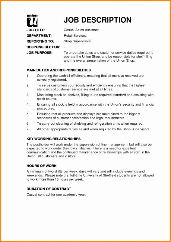 Sales and Marketing Job Description Unique Sales Job Description Template