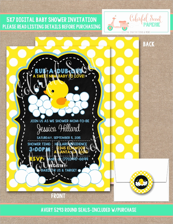 Sample Baby Shower Invitations Awesome 25 Sample Printable Baby Shower Invitation Templates