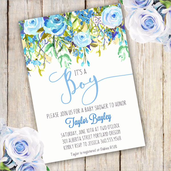 Sample Baby Shower Invitations Awesome 43 Baby Shower Invitation Examples