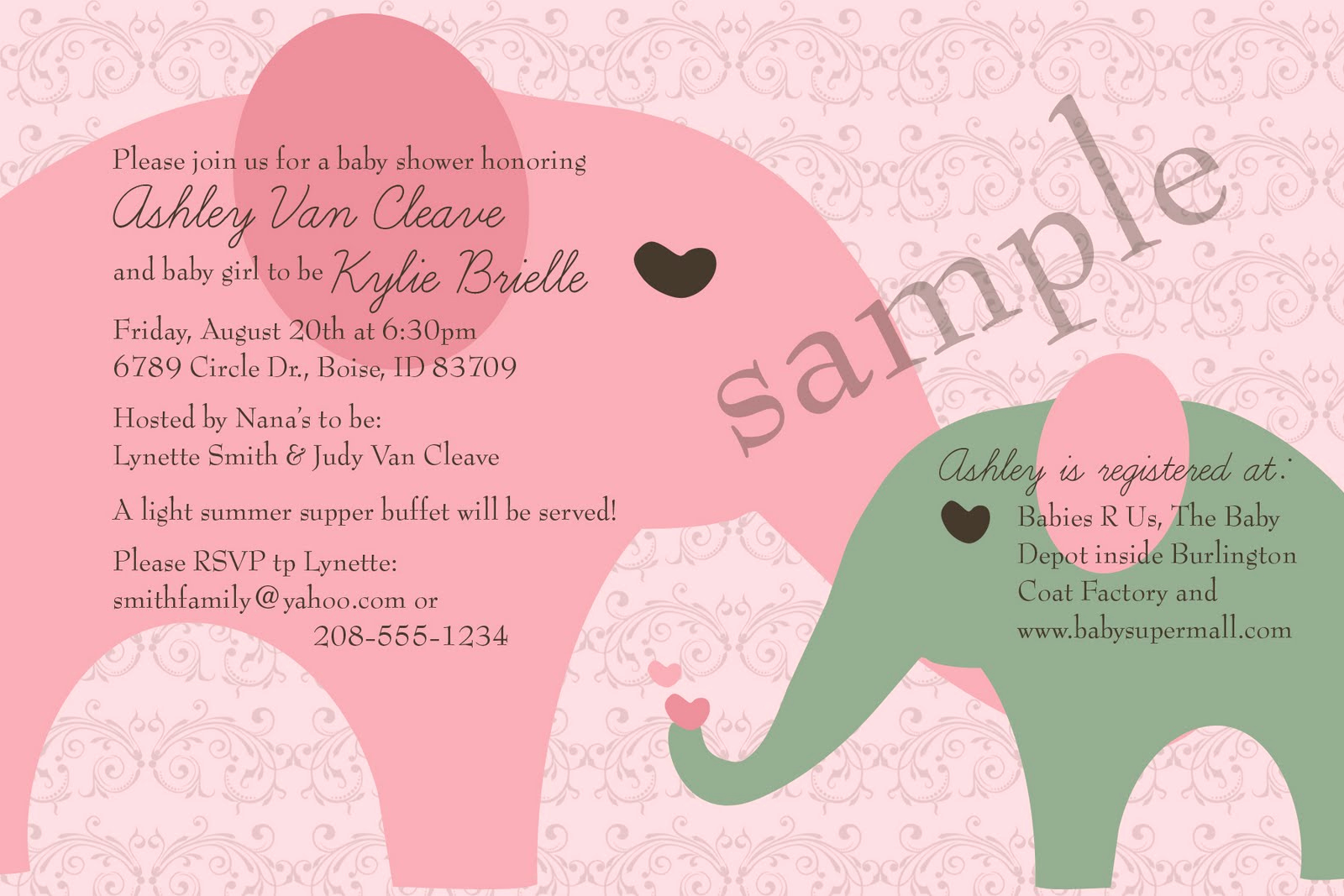 Sample Baby Shower Invitations Awesome Examples Baby Shower Invitations Frompo