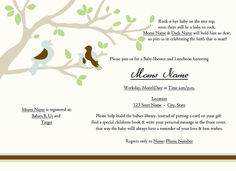 Sample Baby Shower Invitations Best Of Creative Barn Baby Shower Invitation Samples