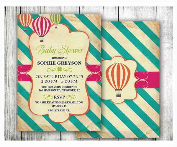 Sample Baby Shower Invitations Fresh 25 Sample Printable Baby Shower Invitation Templates