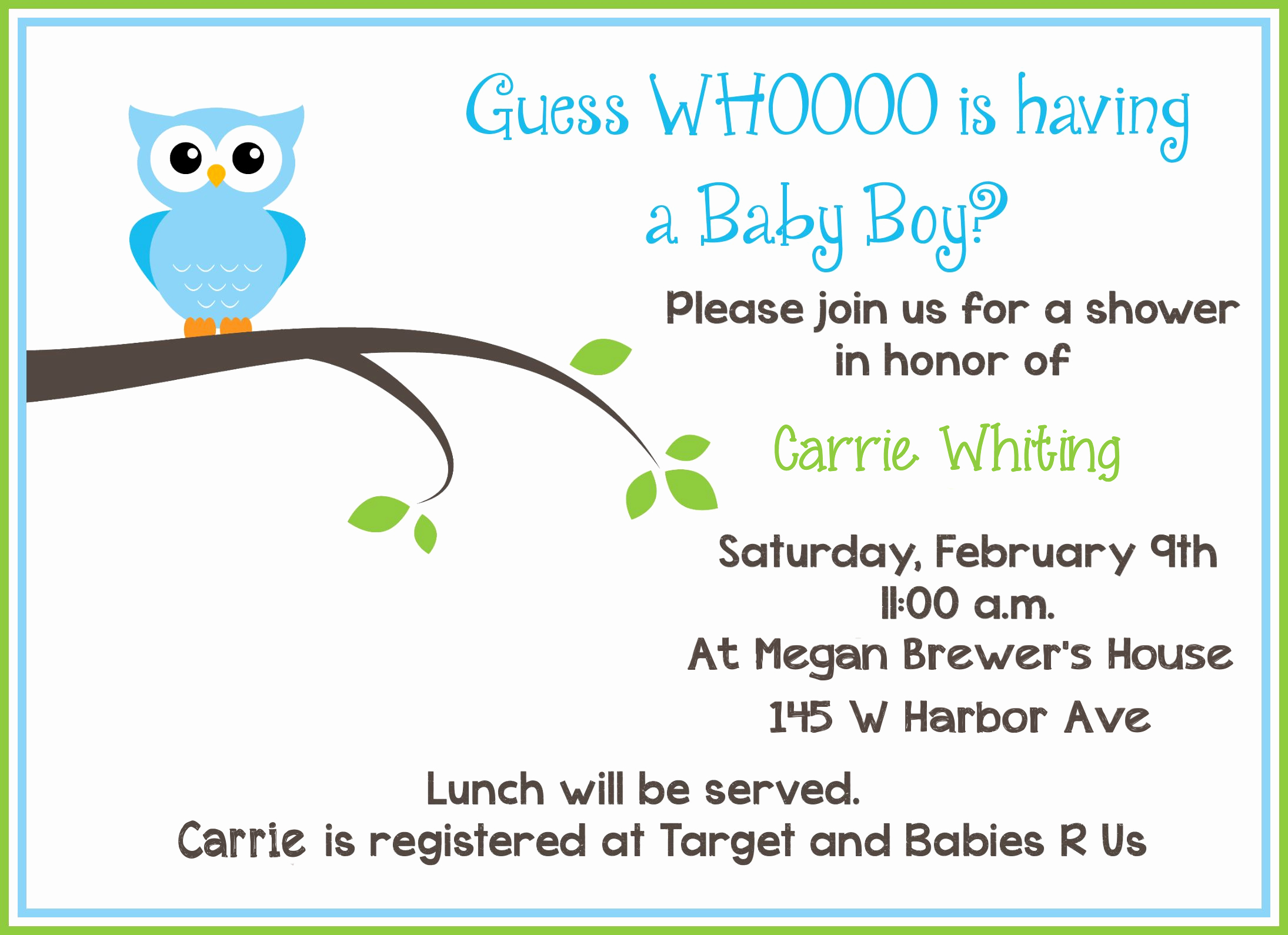 Sample Baby Shower Invitations Fresh Blog