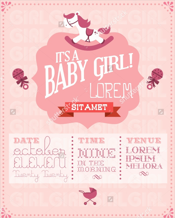 Sample Baby Shower Invitations Inspirational 25 Sample Baby Shower Invitations Word Psd Ai Eps