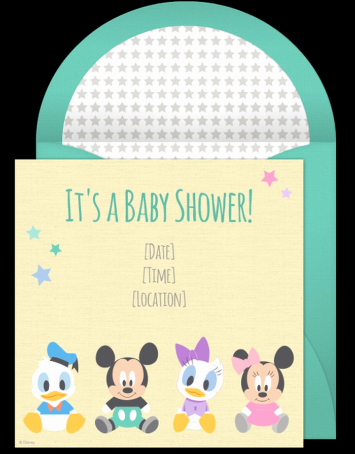 Sample Baby Shower Invitations Luxury Mickey Mouse Baby Shower Invitations