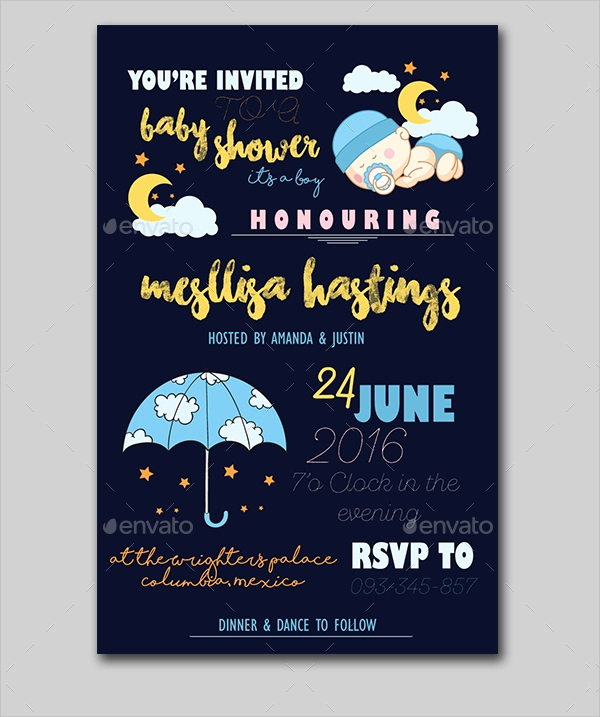 Sample Baby Shower Invitations New 25 Sample Baby Shower Invitations Word Psd Ai Eps
