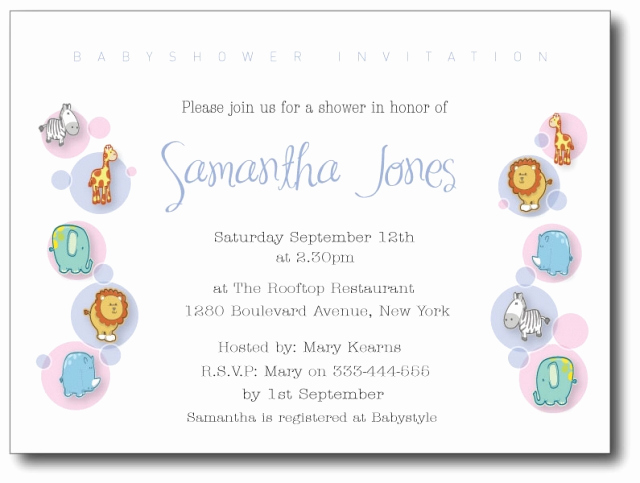 Sample Baby Shower Invitations New Baby Shower Invitation Wording