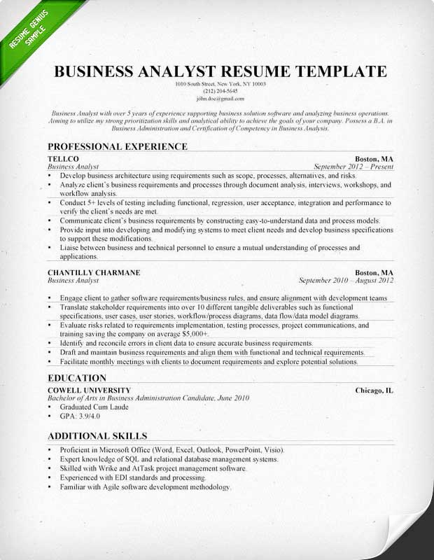 Sample Business Analyst Resume Elegant Accounting & Finance Cover Letter Samples