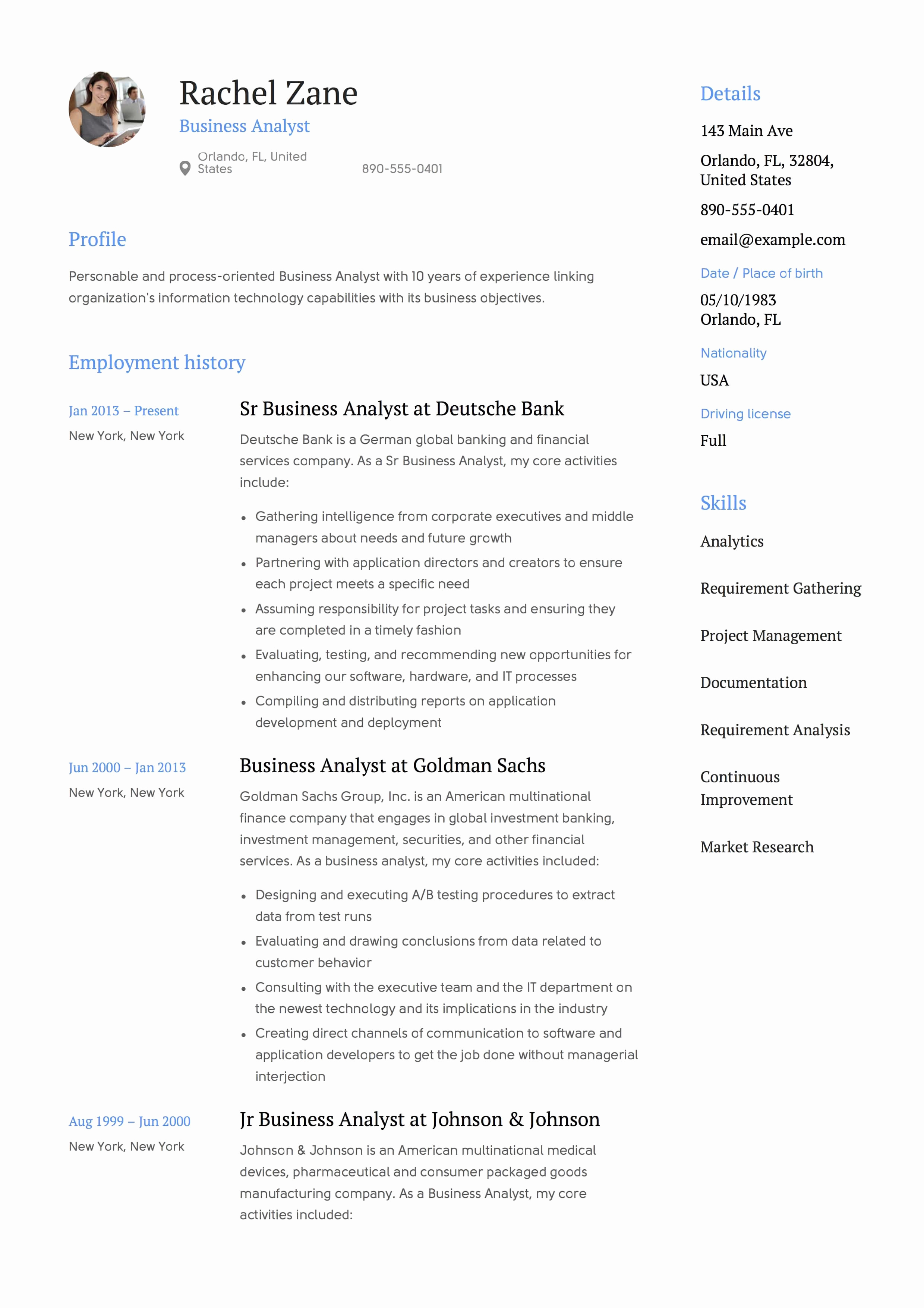 Sample Business Analyst Resume Fresh Full Guide Project Manager Resume & 12 Resume Samples