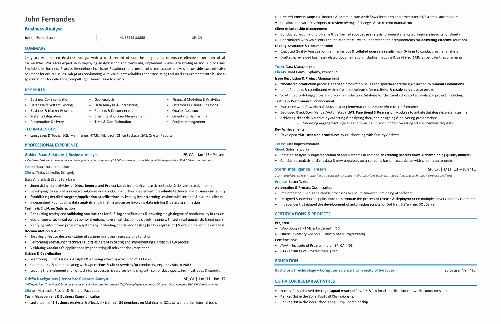 Sample Business Analyst Resume New Business Analyst Resume Examples & 2019 Guide [ Best