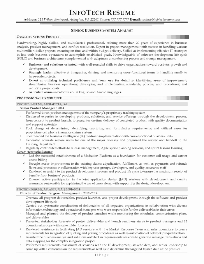 Sample Business Analyst Resume Unique Examples Time Management Skills for Resume