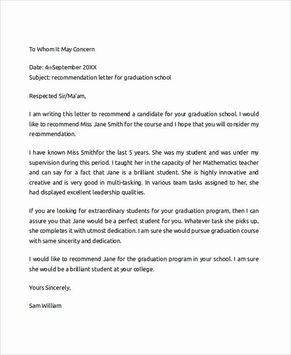 sample college re mendation letter