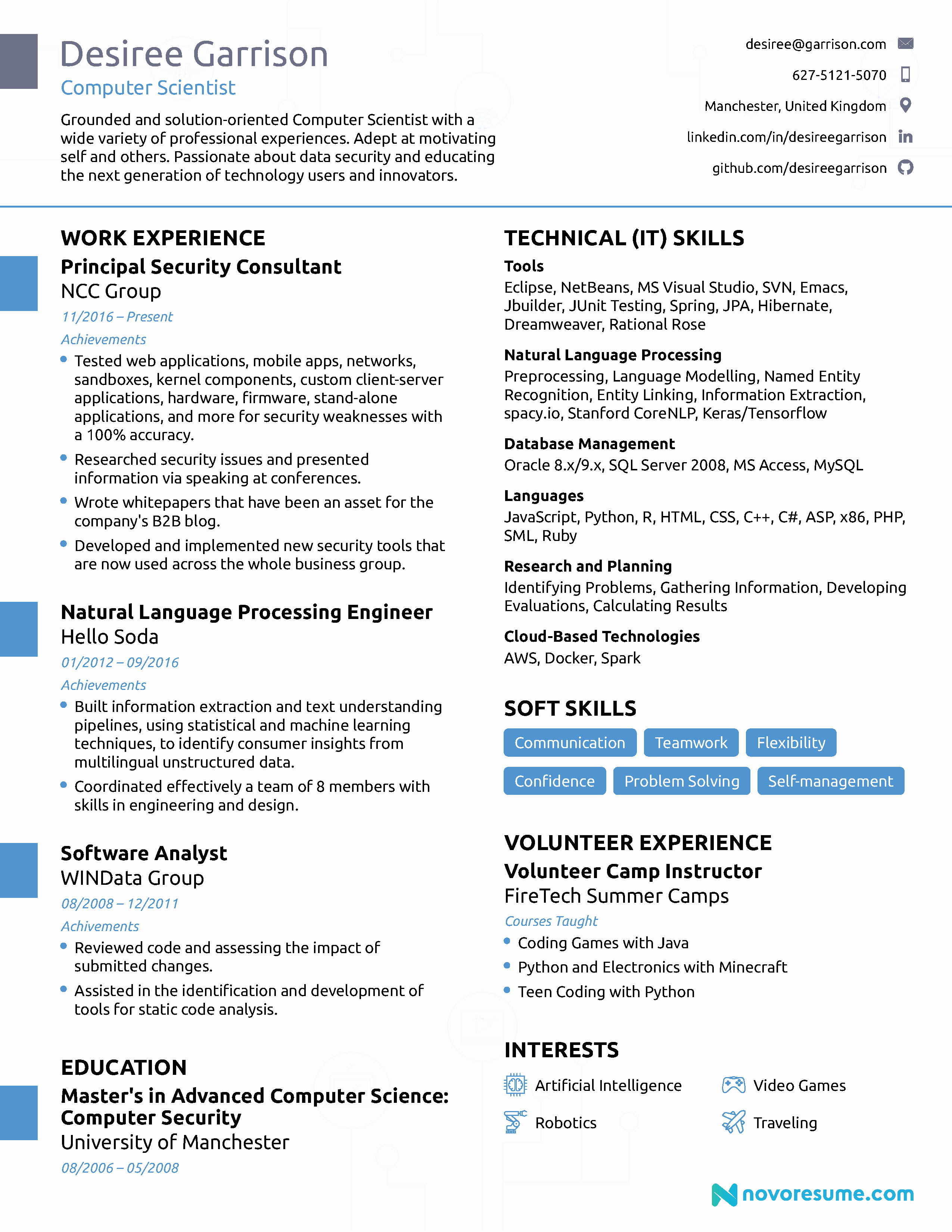 Sample Computer Science Resume Awesome Puter Science Resume [2019] Guide & Examples