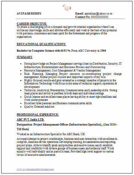 Sample Computer Science Resume Elegant Over Cv and Resume Samples with Free Download