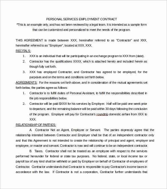 Sample Contract for Services Awesome 14 Sample Service Contract Templates to Download