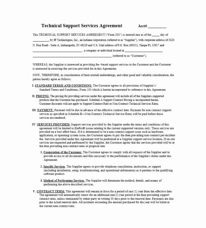 Sample Contract for Services Elegant 50 Professional Service Agreement Templates & Contracts