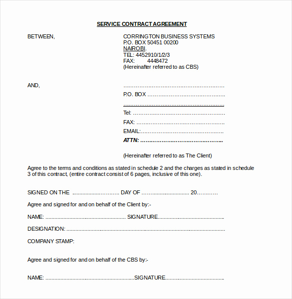 Sample Contract for Services Fresh 21 Contract Agreement Templates Word Pdf Pages